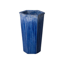 Tall Hex Planter - Blue Violet - Medium