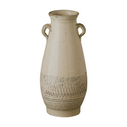 Tall Twig Handle Urn - Sand Dune