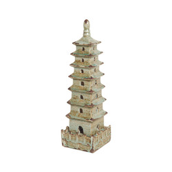 Square Pagoda - Foam Blue