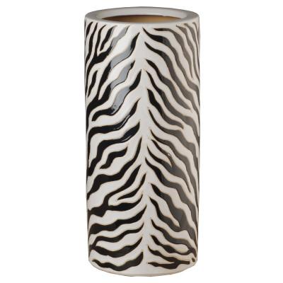 Zebra Umbrella Stand - Black/White
