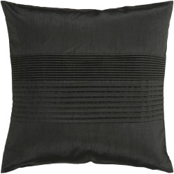 Surya Solid Pleated Pillow - HH027 - 18 x 18 x 4 - Poly