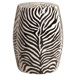 Zebra Stool - Black/White