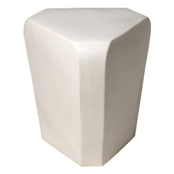 Triangle Stool - White
