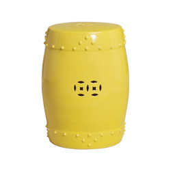 Drum Stool - Yellow