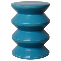 Accordion Stool - Turquoise