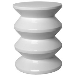 Accordion Stool - White