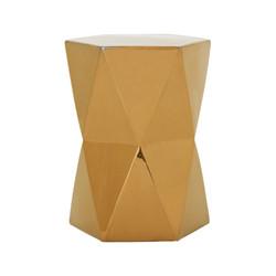 Matrix Hexagon Garden Stool/Table - Gold