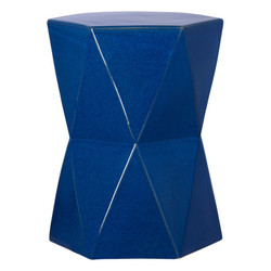 Large Matrix Hexagon Stool/Table - Blue
