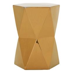 Large Matrix Hexagon Stool/Table - Gold