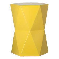 Large Matrix Hexagon Stool/Table - Yellow