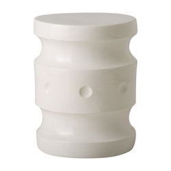 Spindle Stool - White