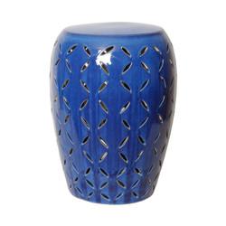 Lattice Stool - Blue