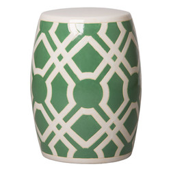 Labyrinth Stool - Meadow Green