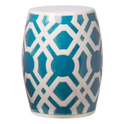 Labyrinth Stool - Turquoise