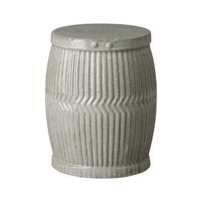 Dolly Tub Garden Stool/Table - Gray