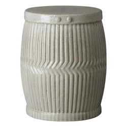 Large Dolly Tub Garden Stool/Table - Gray