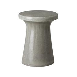 Plateau Garden Stool/Table - Gray