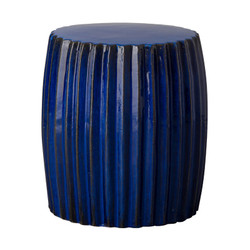 Pleated Garden Stool/Table - Blue