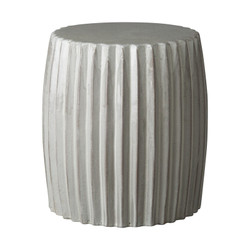 Pleated Garden Stool/Table - Gray