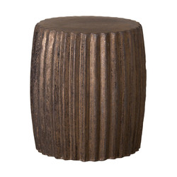 Pleated Garden Stool/Table - Metallic