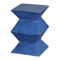 Zigzag Stool - Blue