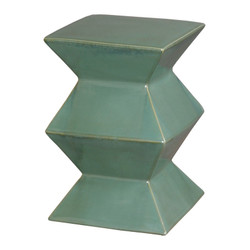 Zigzag Stool - Green