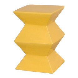 Zigzag Stool - Sun Yellow