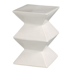 Zigzag Stool - White