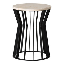 Millie Metal Stool/Table - Black