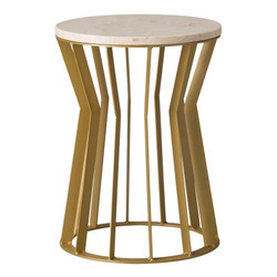 Millie Metal Stool/Table - Gold