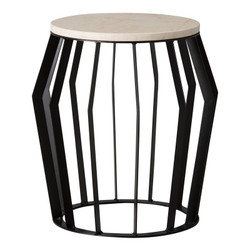 Billie Metal Stool/Table - Black