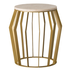 Billie Metal Stool/Table - Gold