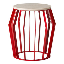 Billie Metal Stool/Table - Red