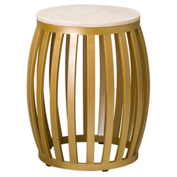 Meridian Metal Stool/Table - Gold