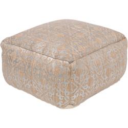 Surya Celine Cube Pouf - CIPF3000 - Silver, Khaki