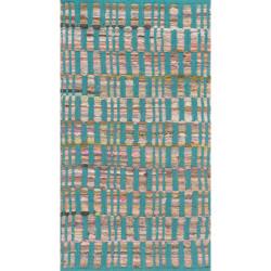"""Loloi Aiden Rug  HAI01 Turquoise - 1'-8"""" X 3'"""
