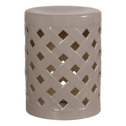 Criss Cross Stool - Gray