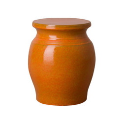 Koji Garden Stool/Table - Bright Orange