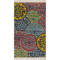 "Loloi Aria Rug  HAR19 Light Blue / Multi - 2'-3"" x 3'-9"""