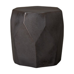 Facet Garden Stool - Gunmetal