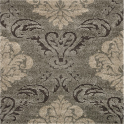 "Loloi Enchant Rug  EN-03 Smoke / Beige - 7'-7"" X 7'-7"" Square"