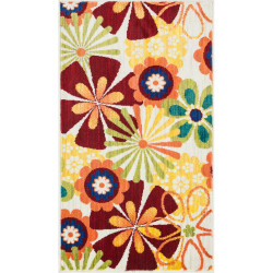 """Loloi Isabelle Rug  HIS01 Ivory / Multi - 2'-2"""" X 5'"""