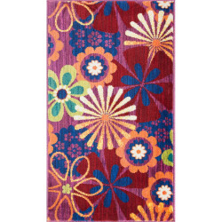 """Loloi Isabelle Rug  HIS01 Pink / Multi - 3'-0"""" x 3'-0"""" Round"""