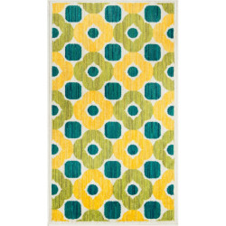 """Loloi Isabelle Rug  HIS02 Green / Multi - 3'-0"""" x 3'-0"""" Round"""