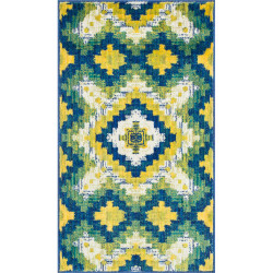 """Loloi Isabelle Rug  HIS03 Ivory / Green - 3'-0"""" x 3'-0"""" Round"""