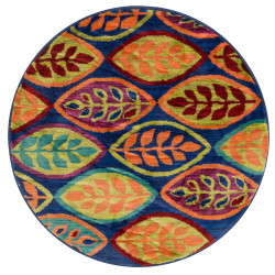 """Loloi Isabelle Rug  HIS04 Blue / Multi - 3'-0"""" x 3'-0"""" Round"""