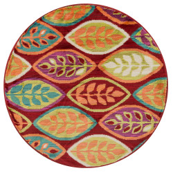 """Loloi Isabelle Rug  HIS04 Red / Multi - 3'-0"""" x 3'-0"""" Round"""