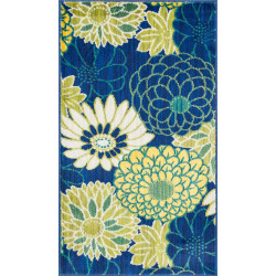 """Loloi Isabelle Rug  HIS05 Blue / Multi - 3'-0"""" x 3'-0"""" Round"""