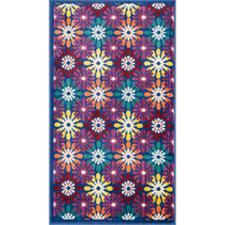 """Loloi Isabelle Rug  HIS06 Blue / Multi - 3'-0"""" x 3'-0"""" Round"""