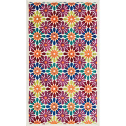 """Loloi Isabelle Rug  HIS06 Ivory / Multi - 3'-0"""" x 3'-0"""" Round"""
